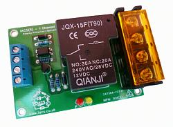 Click image for larger version.  Name:IACS 1 Channel 25A 30A 240V Relay Board SPDT Arduino Raspberry Pi 1XHCEL Optical.jpg Views:1 Size:77.7 KB ID:431224