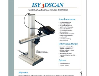isy3DScan | Precise 3D-colour scanning in seconds!
