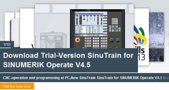 Download Trial-Version SinuTrain for SINUMERIK Operate V4.5