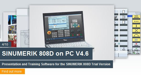 Training software SINUMERIK 808D on PC with german operating inferface